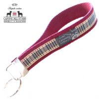 WRISTLET KEYCHAIN - AUTHENTIC SCOTTISH BLACKBERRY TARTAN